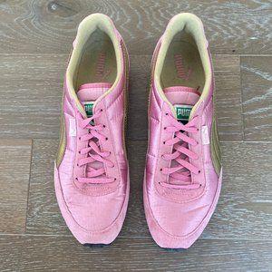 Puma Suede & Satin Sneaker   Pink   9.5M